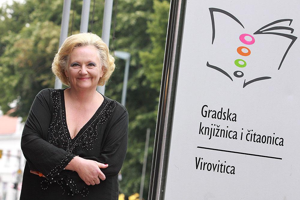 Ravnateljica Gradske knjižnice i čitaonice Virovitica Višnja Romaj, snimio Antonio Jurkin