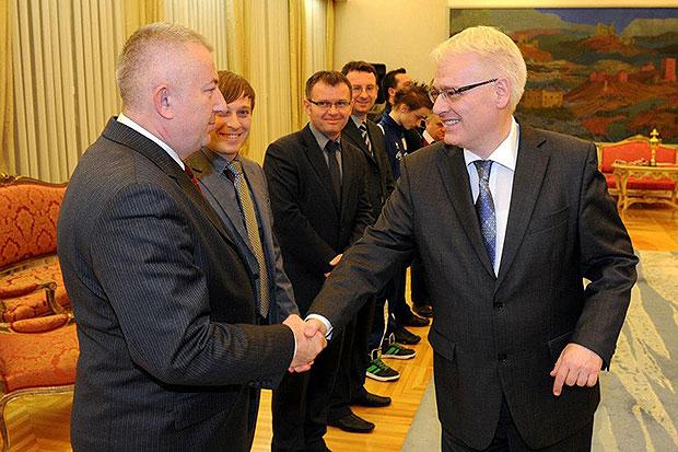 Damir Barić i predsjednik Josipović (foto: Facebook.com)