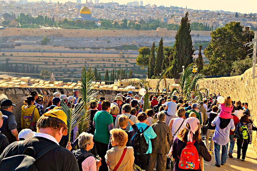 900Procesije na Cvijetnicu u Jeruzalemu