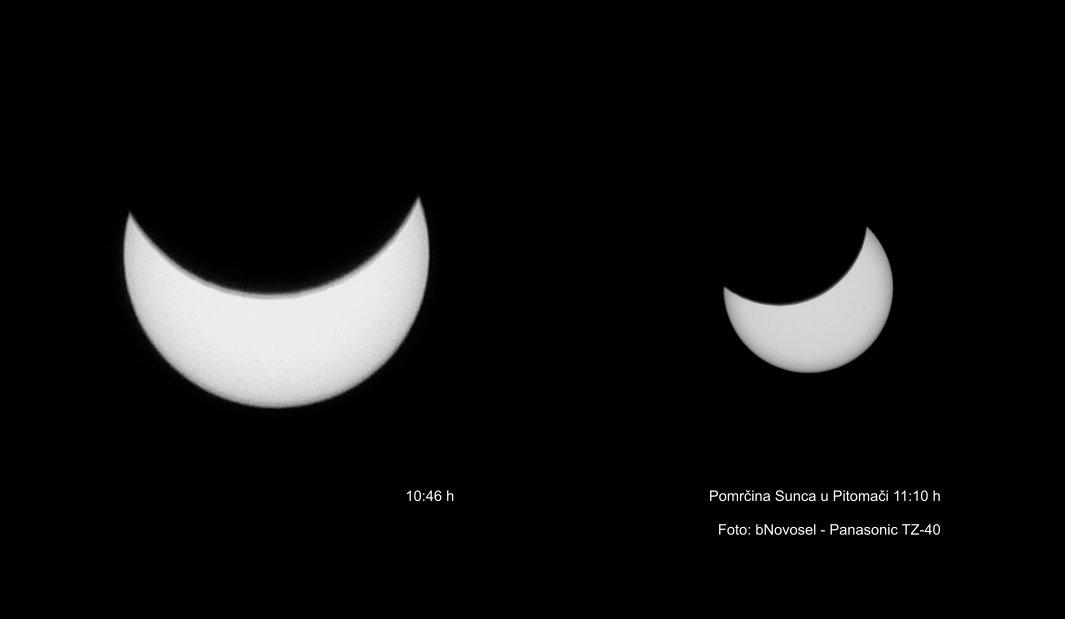 Pomrčina Sunca u Pitomači