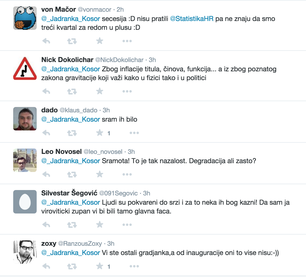 Twitter komentari