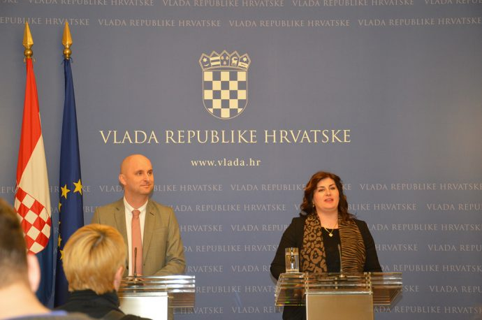 Ministrica Žalac i ministar Tolušić