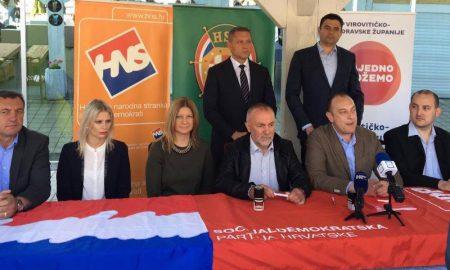 SDP, HSS i HNS zajedno na izbore u Virovitici